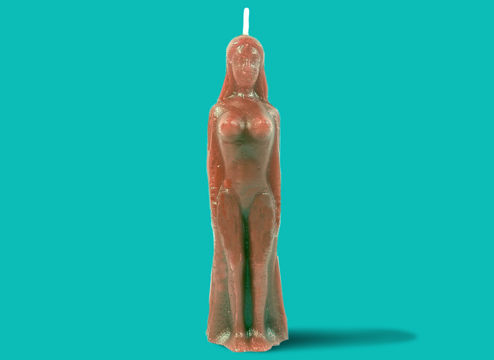 Brown Female Figure Candle