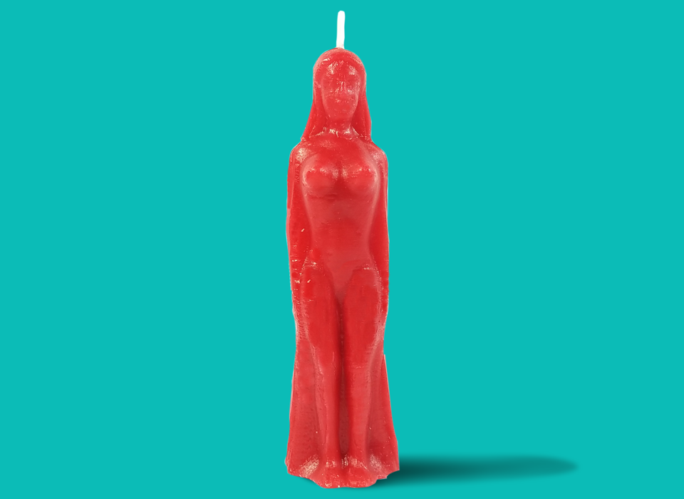 Red Female Figure Candle
