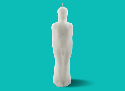 White Male Figure Candle