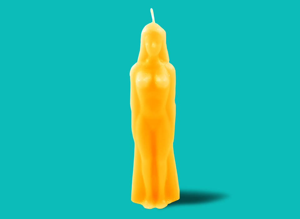 Yellow Gold Female Figure Candle