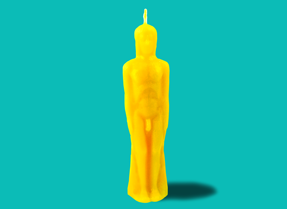 Gold Male Figure Candle